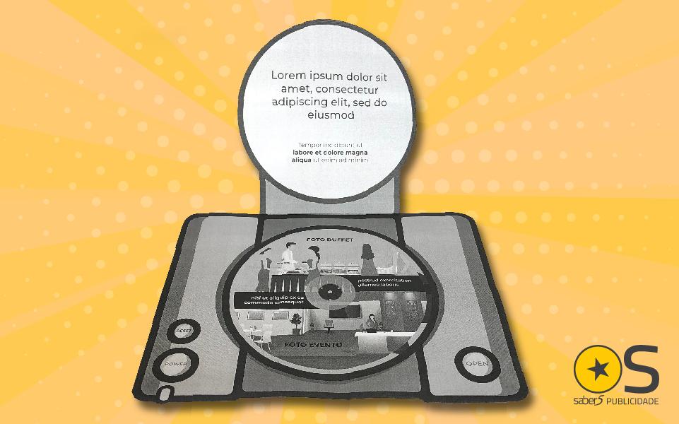 A história de um flyer em formato de PlayStation