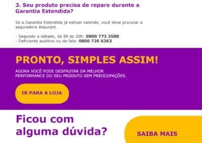 E-mail Marketing - Garantia Estendida Compra Certa