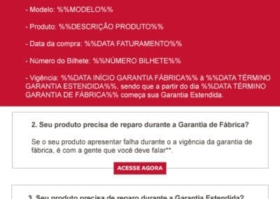 E-mail Marketing - Garantia Estendida KitchenAid