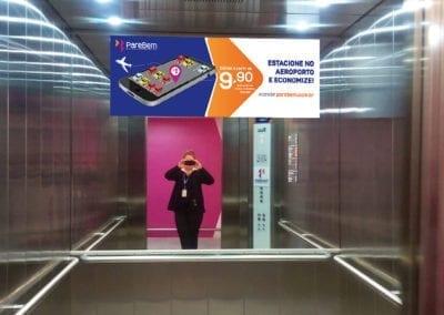 Sinalização - adesivo de elevador Parebem